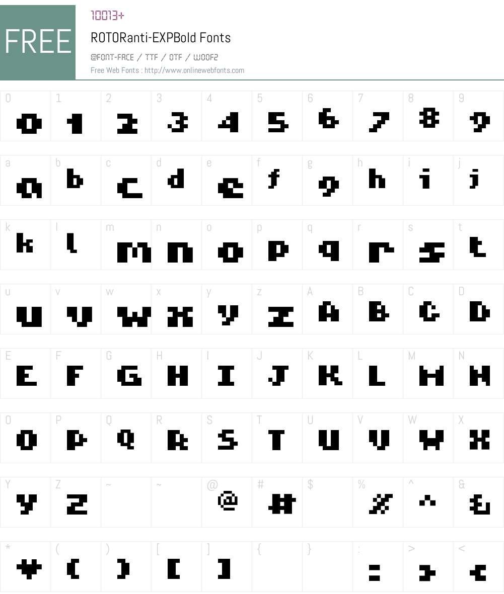 ROTORanti Font Screenshots