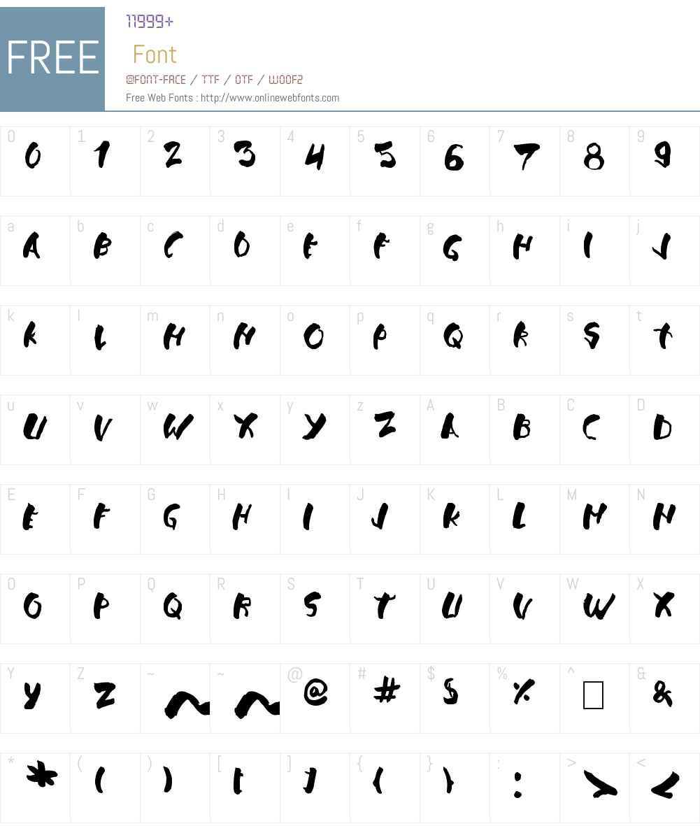 Falsthan Font Screenshots