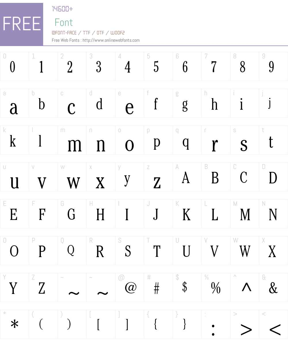 ITC Cheltenham Std Font Screenshots