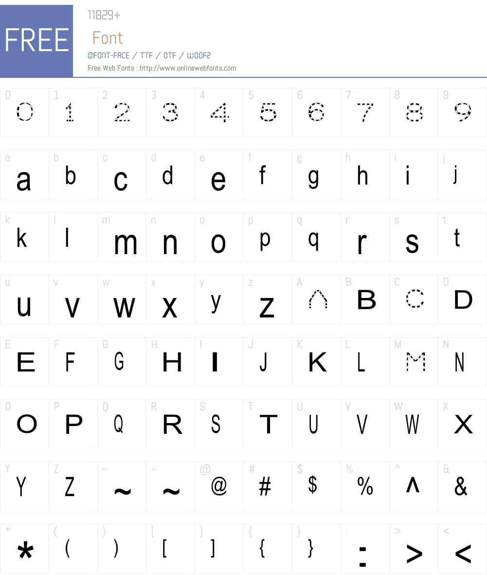 Julia Special Font W Font Screenshots
