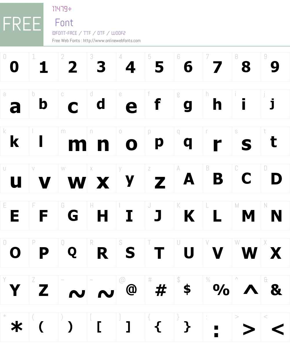 Ilik Small Font12B Font Screenshots