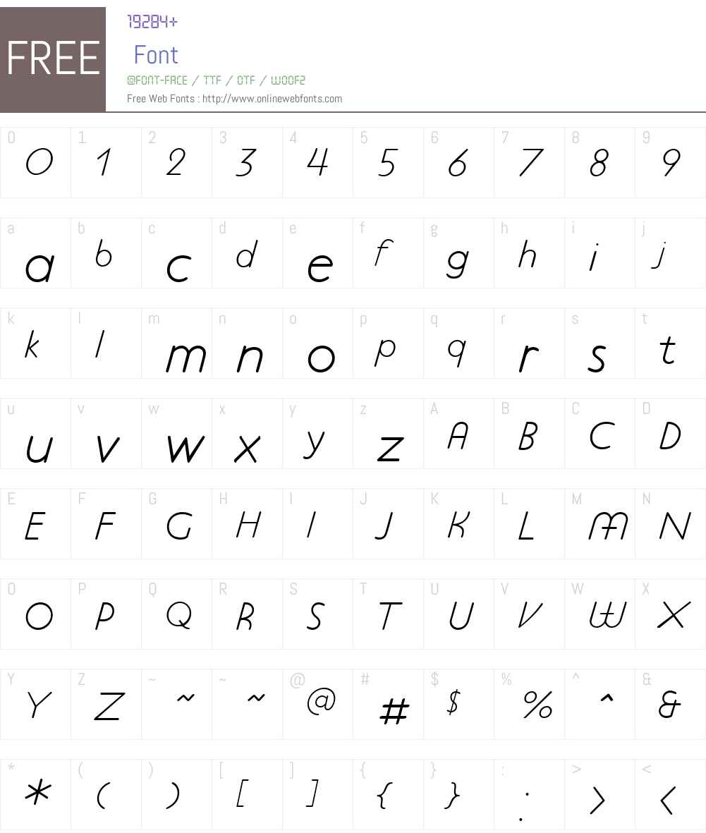 P22PlattenNeuW01-LightIt Font Screenshots