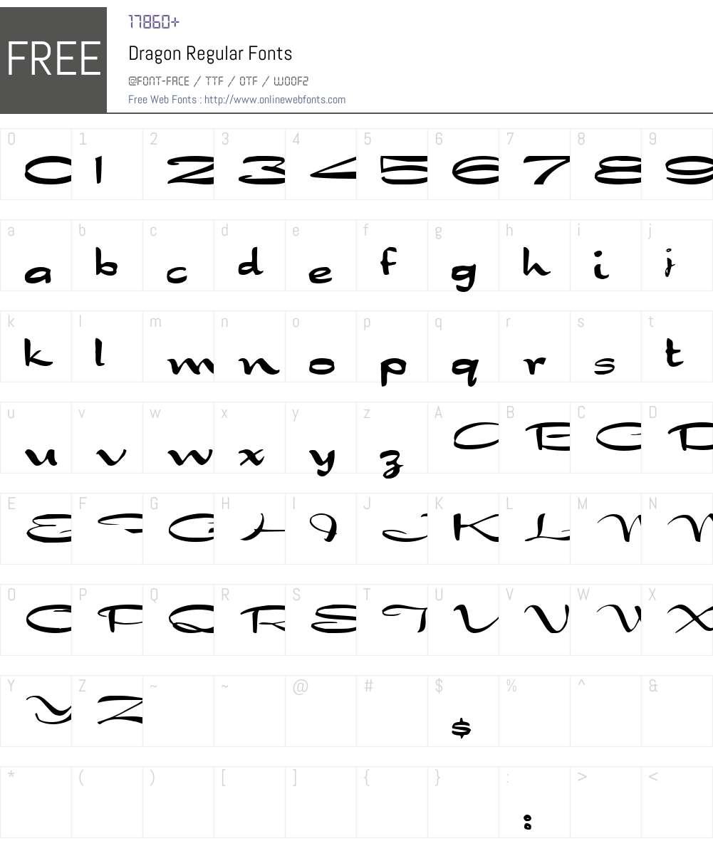 Dragon Font Screenshots