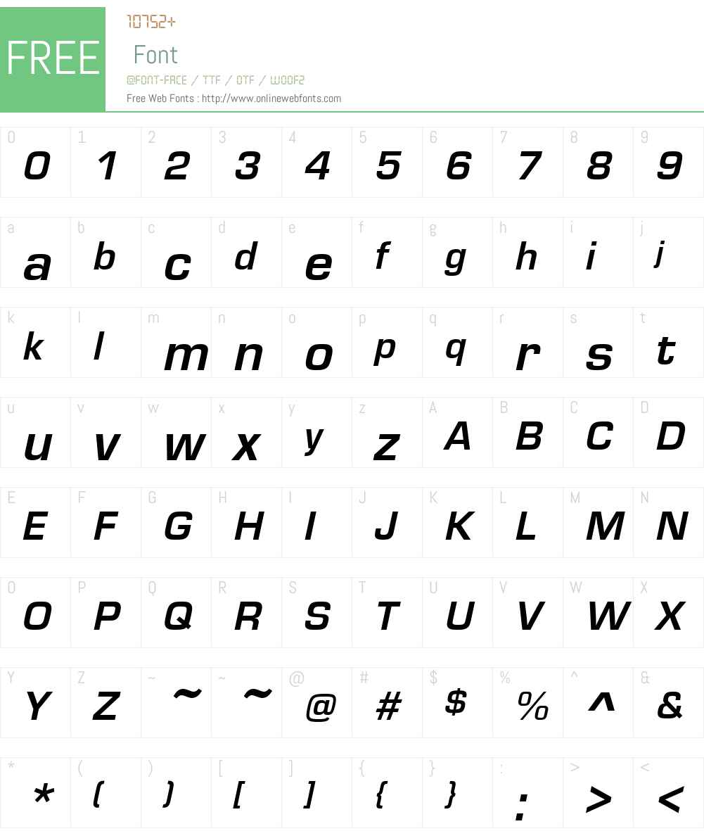 Eurostile Font Screenshots