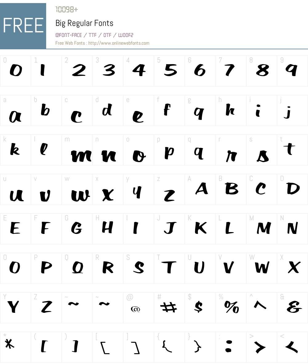Big Font Screenshots