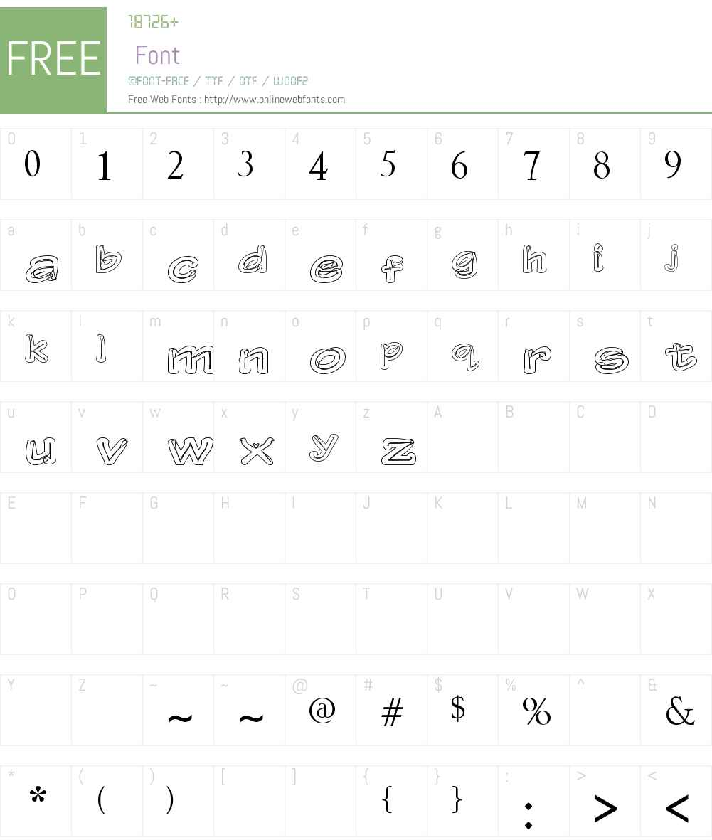 Gerbera Font Screenshots