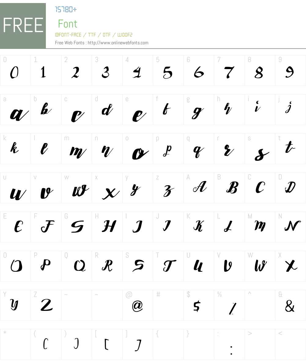 Roselly Font Screenshots