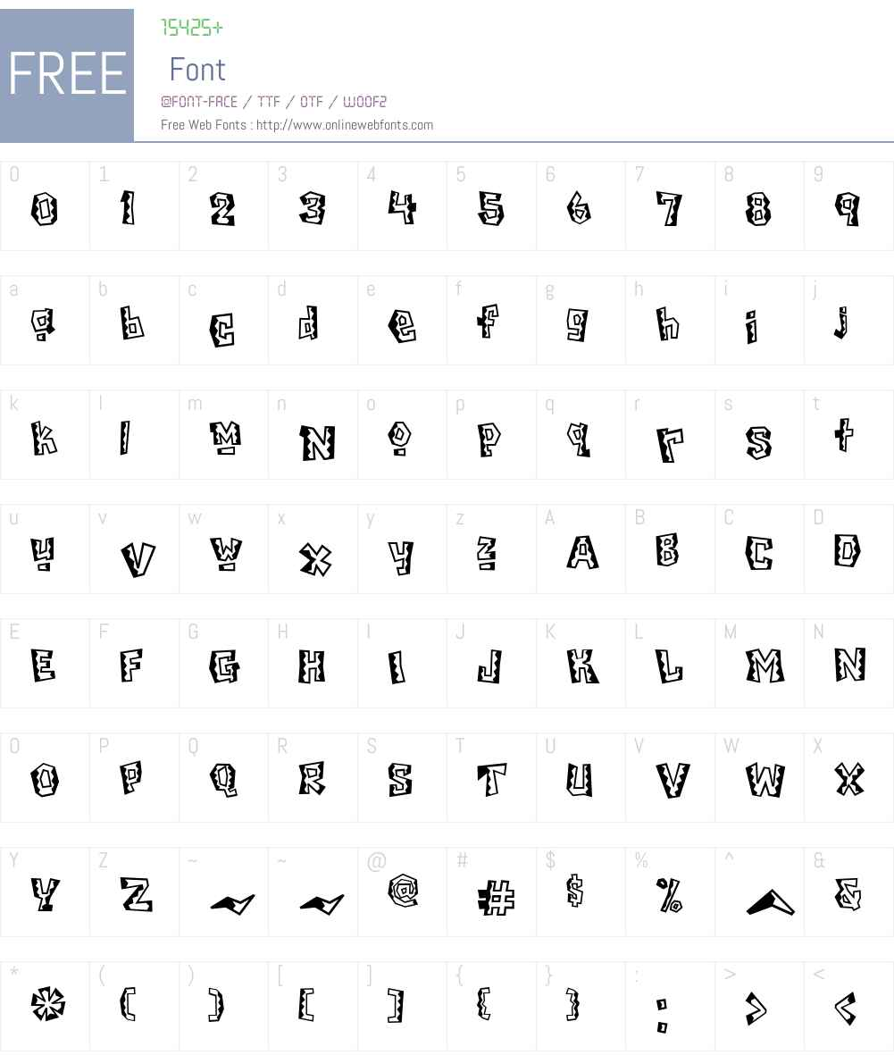 Chilada Font Screenshots