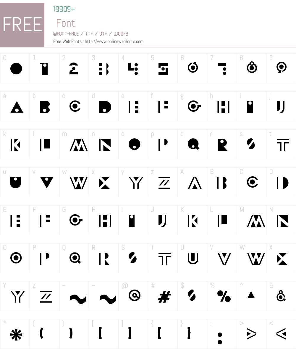 Modeccio Font Screenshots