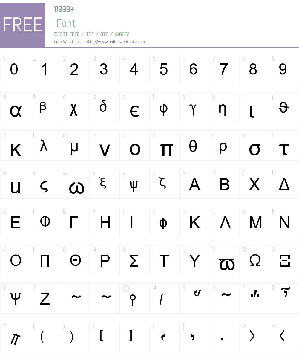 Naxos Font Screenshots