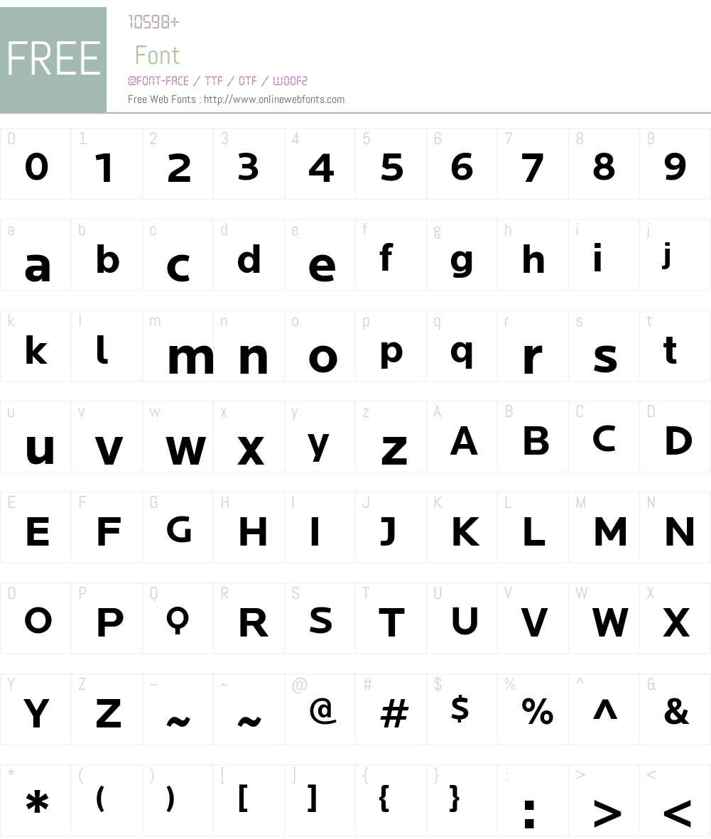 Locator Bold Font Screenshots