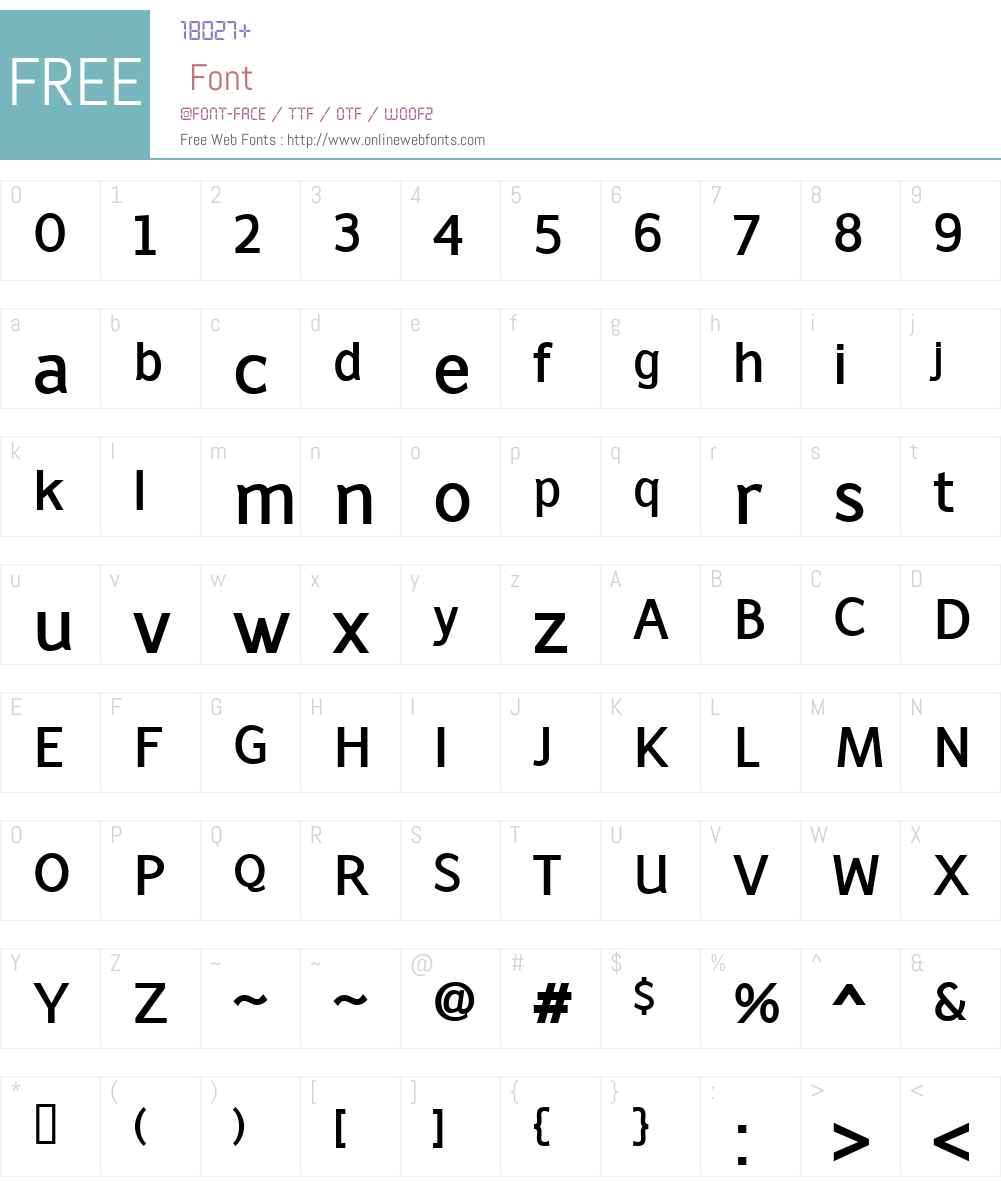 LatinairesW00-Bold Font Screenshots