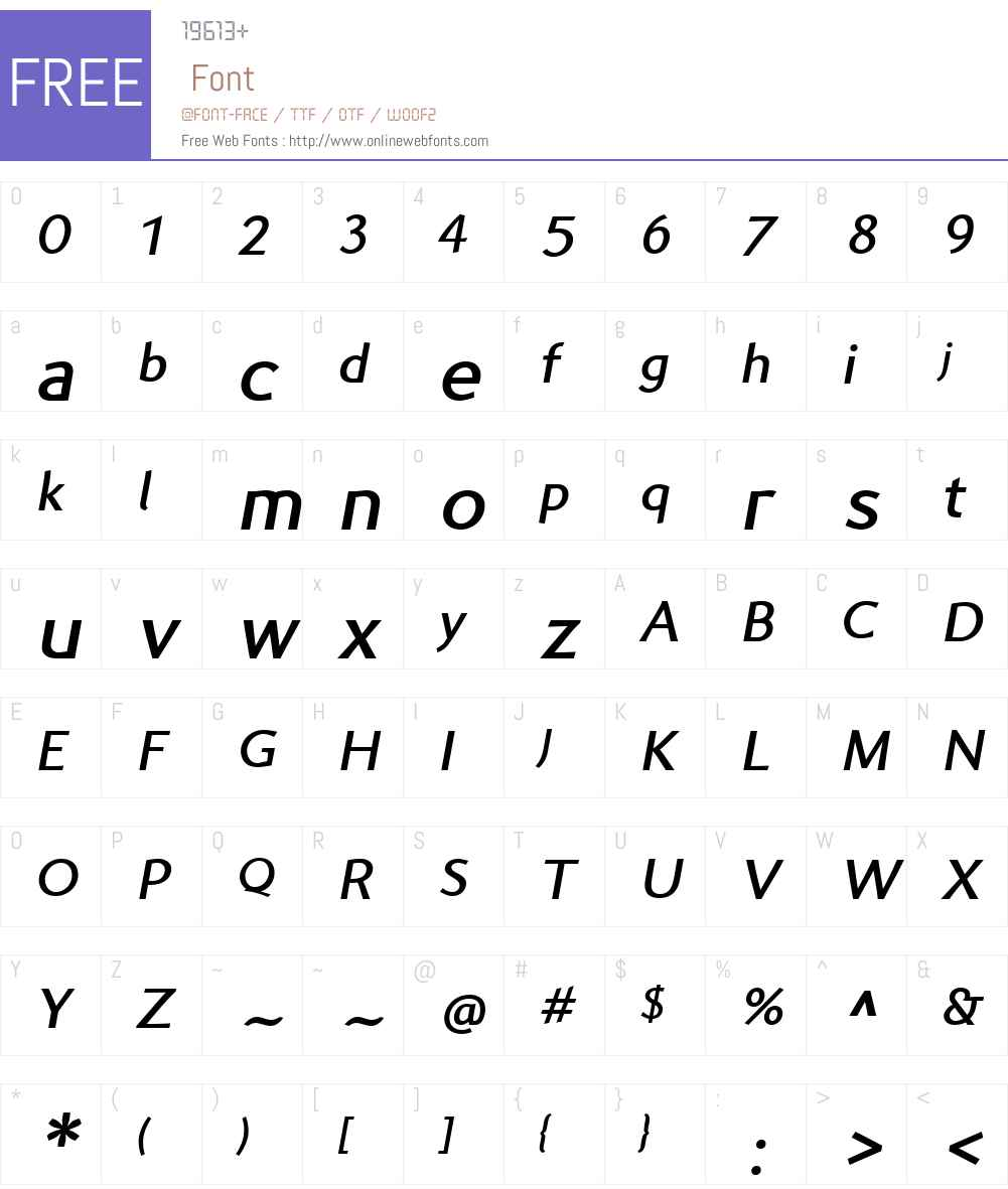 Prell Font Screenshots