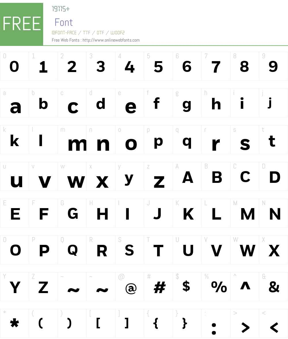 Fort LT Web Font Screenshots
