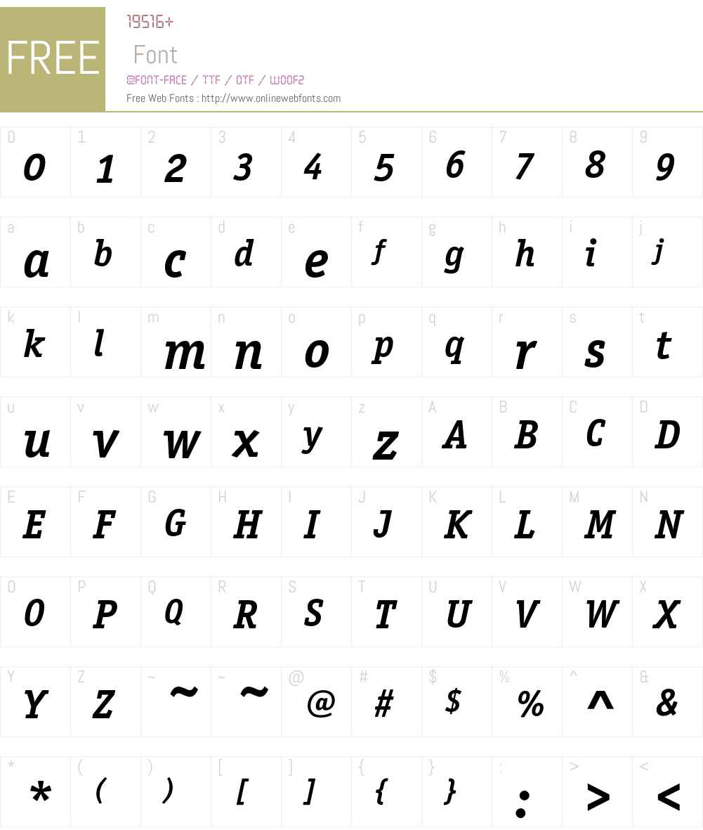 Officina Serif ITC Font Screenshots