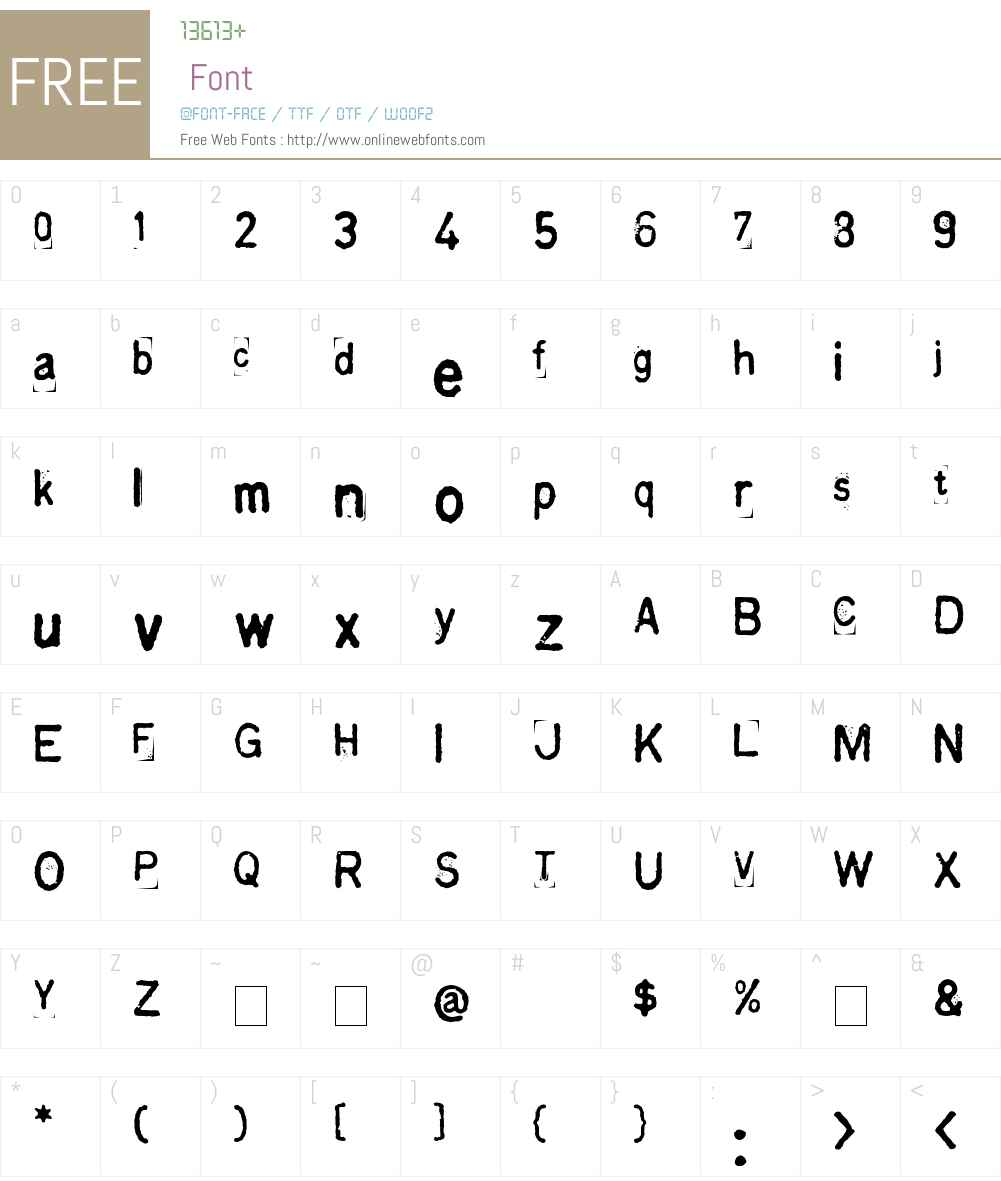 fz-wencang-051 Font Screenshots