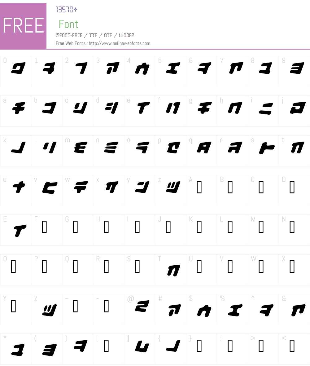 BiscuitBank Font Screenshots