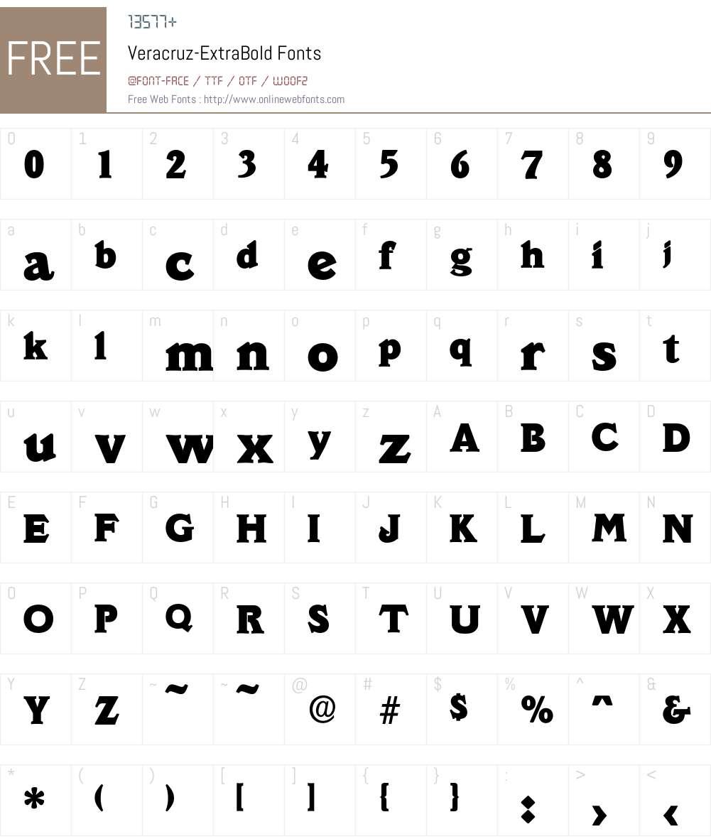 Veracruz-ExtraBold Font Screenshots