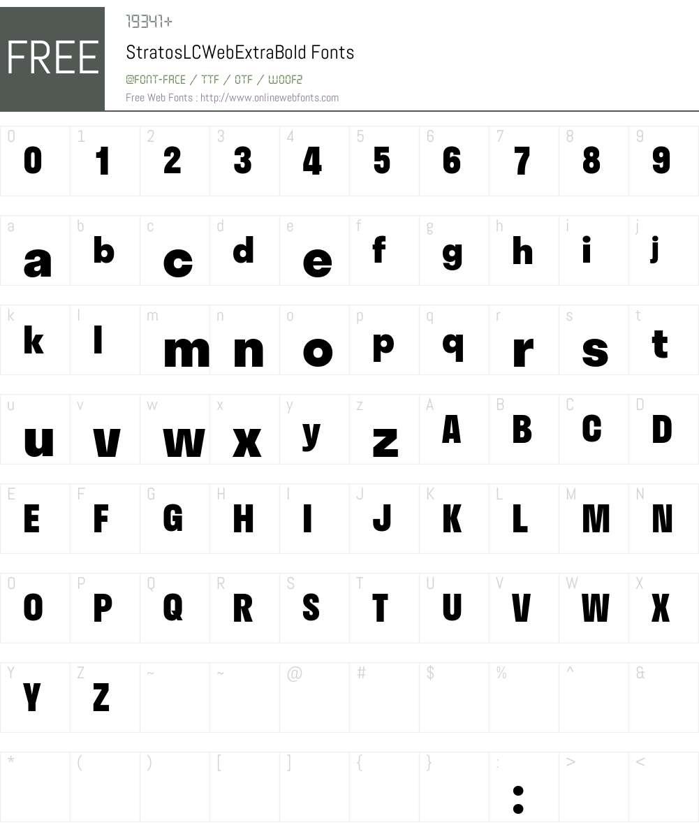 Stratos LC Web ExtraBold Font Screenshots