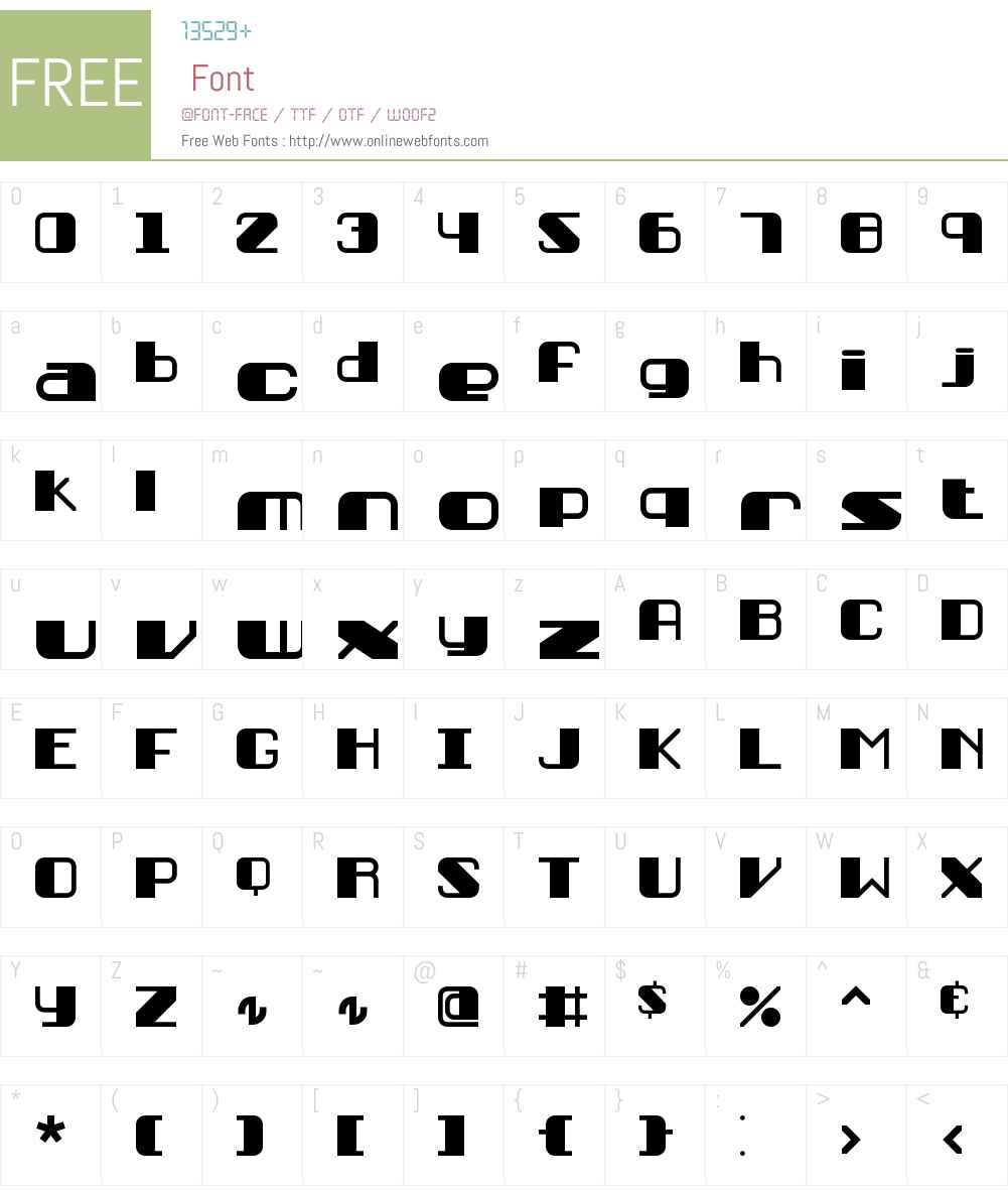 Persuasion BRK Font Screenshots