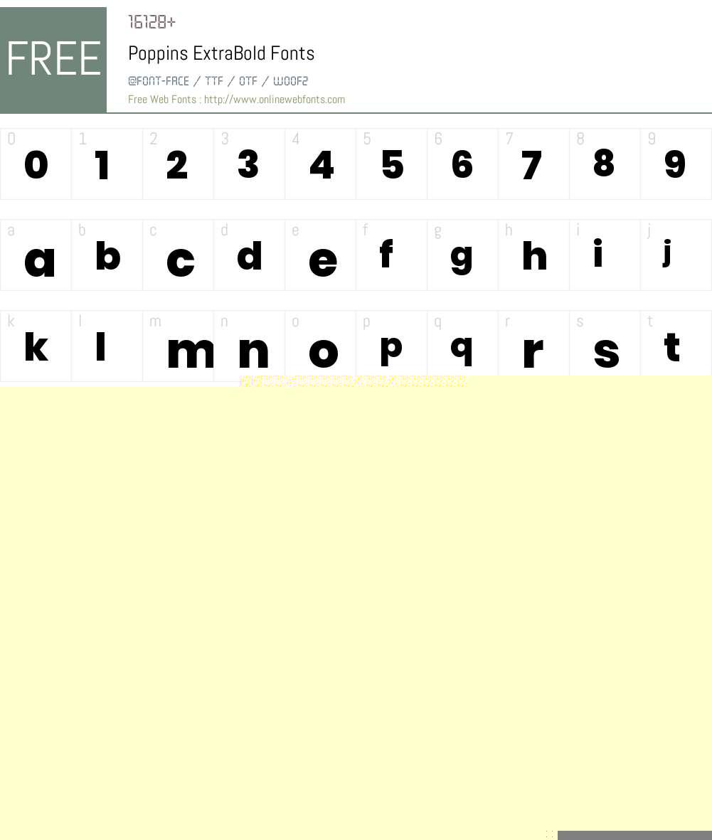 Poppins ExtraBold Font Screenshots