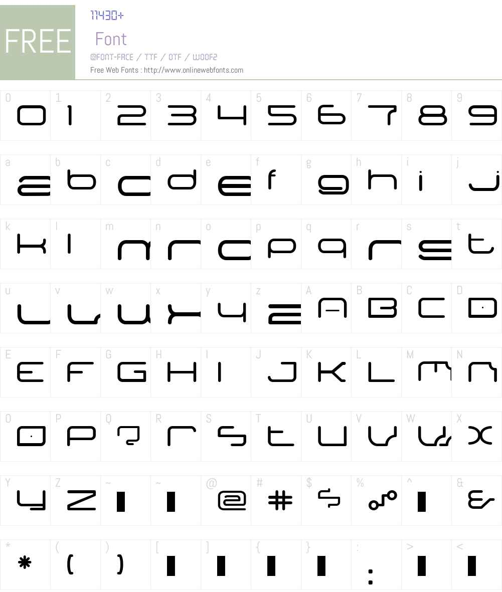 PPPontoonW00-Regular Font Screenshots