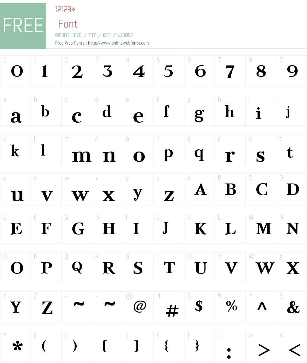 BazhanovW01-Bold Font Screenshots