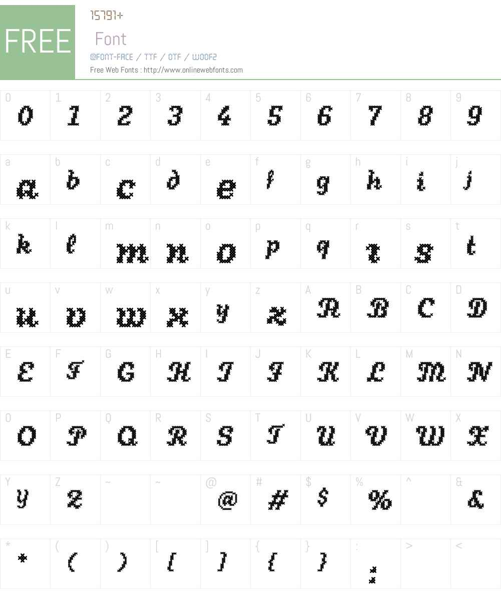Stina Font Screenshots