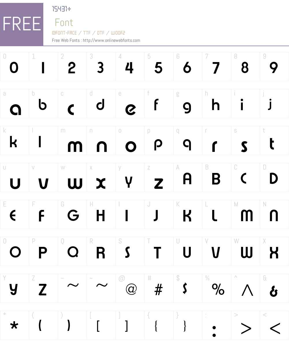 Expressa Font Screenshots