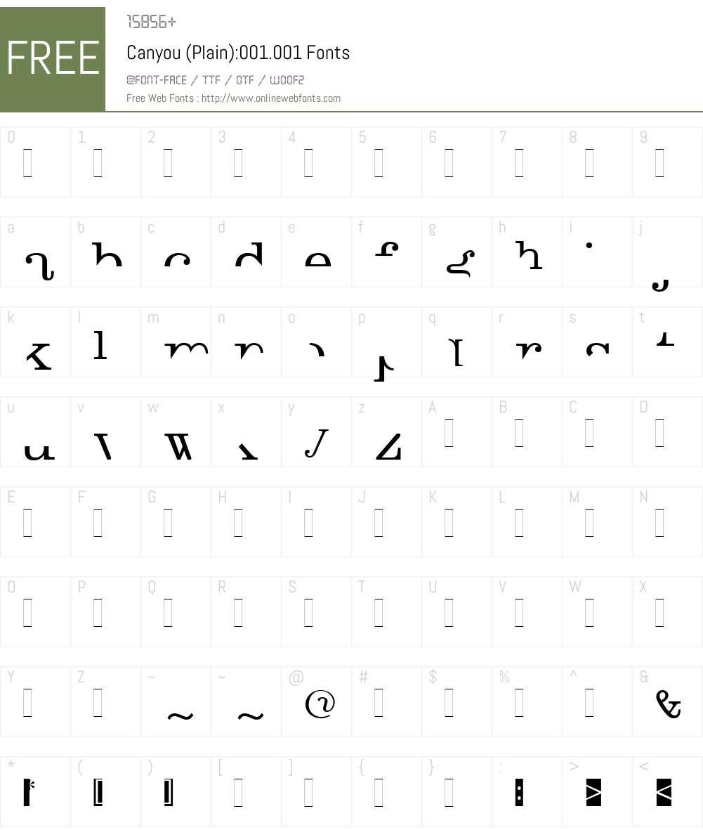 Canyou Font Screenshots