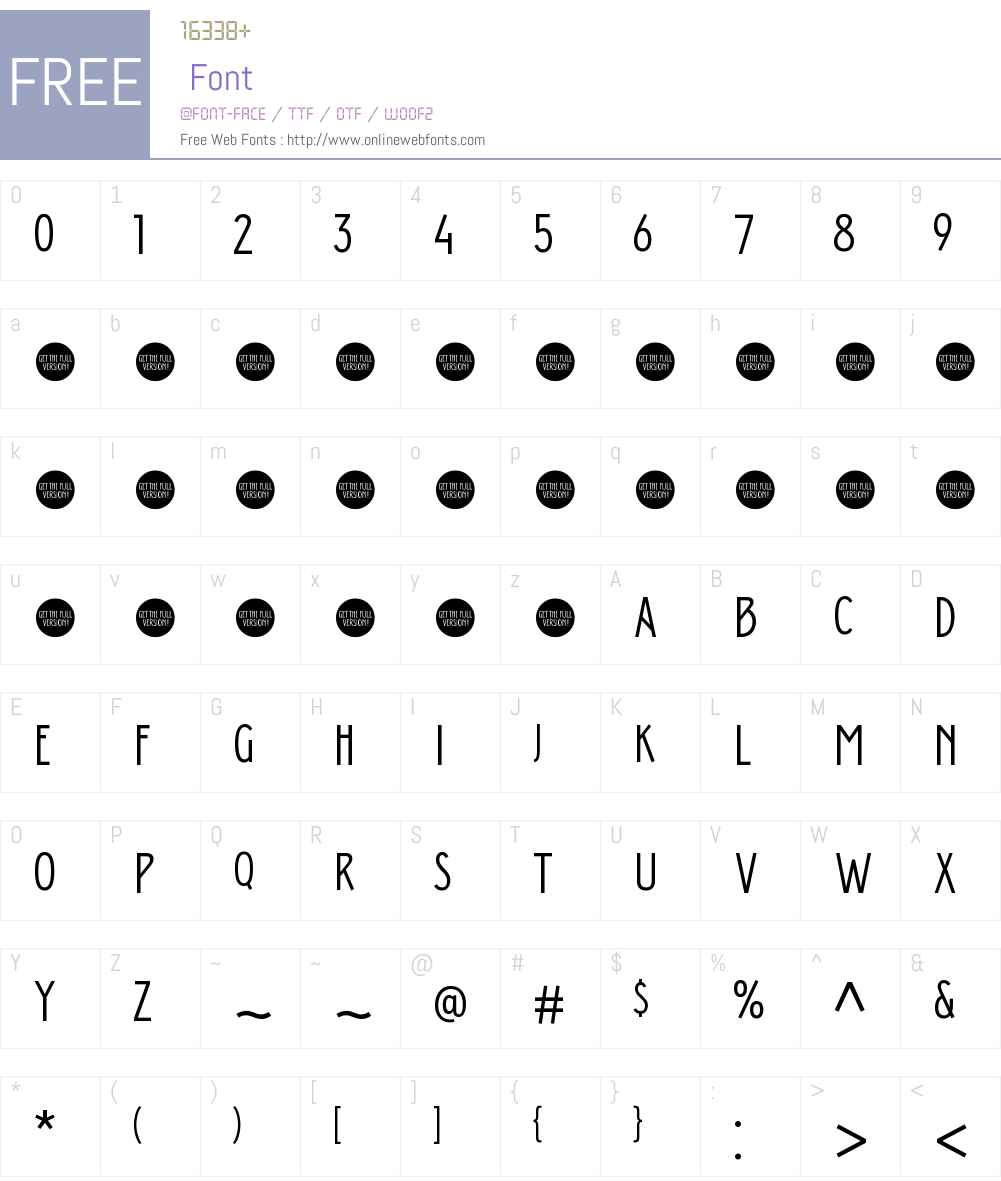 Donau Uppercase Neue Font Screenshots