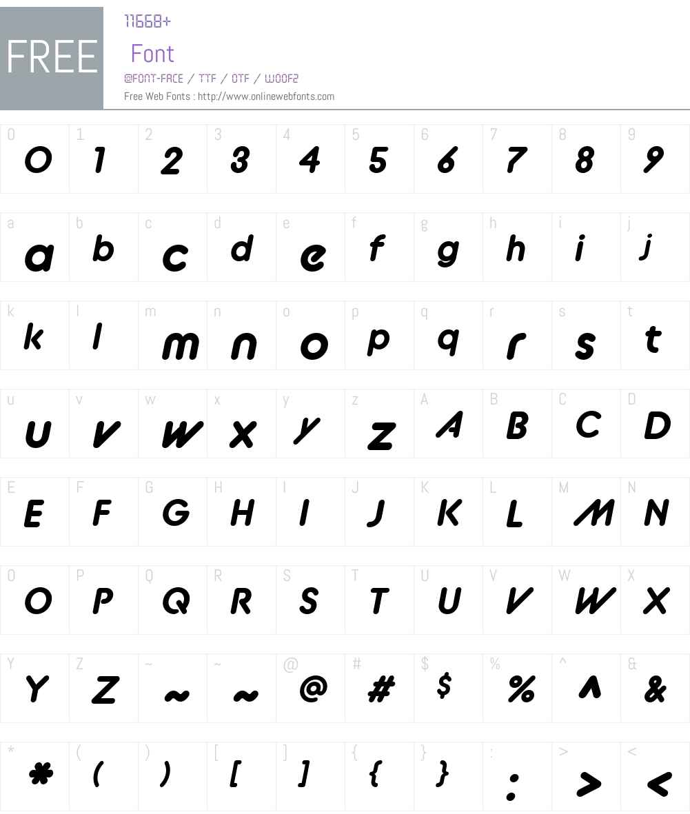 BC Alphapipe RB Font Screenshots