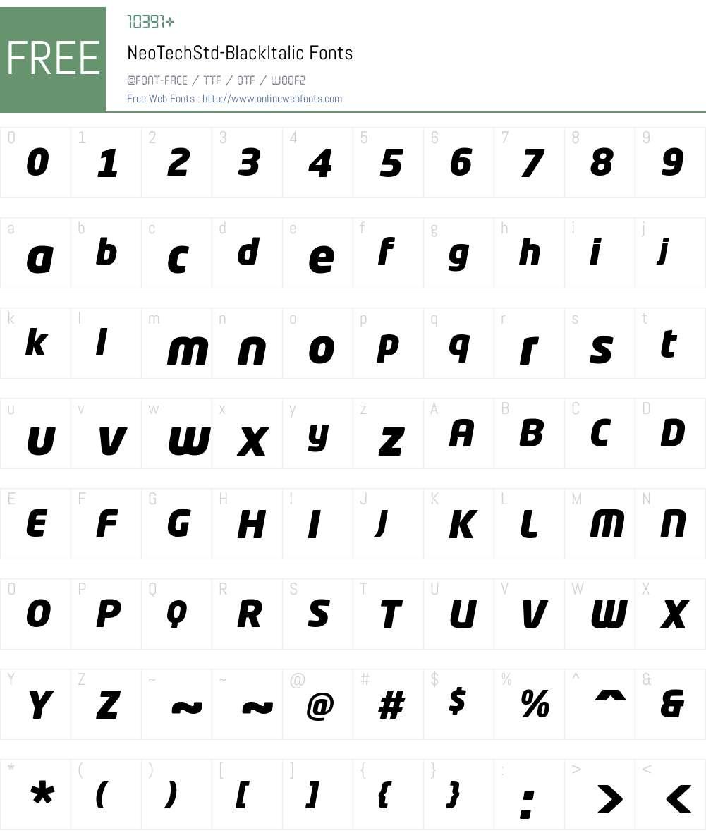 Neo Tech Std Black Font Screenshots