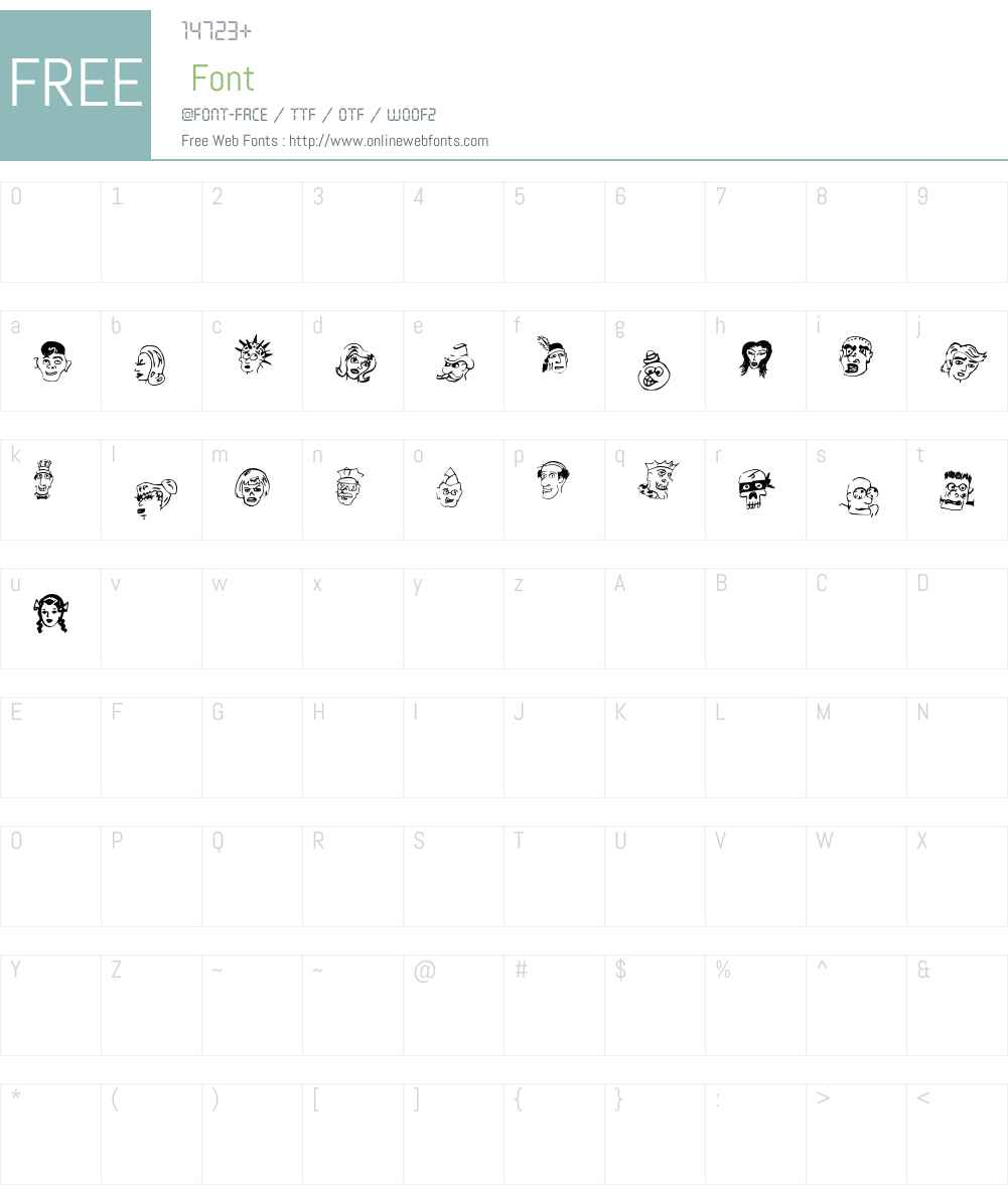 21 Heads Font Screenshots