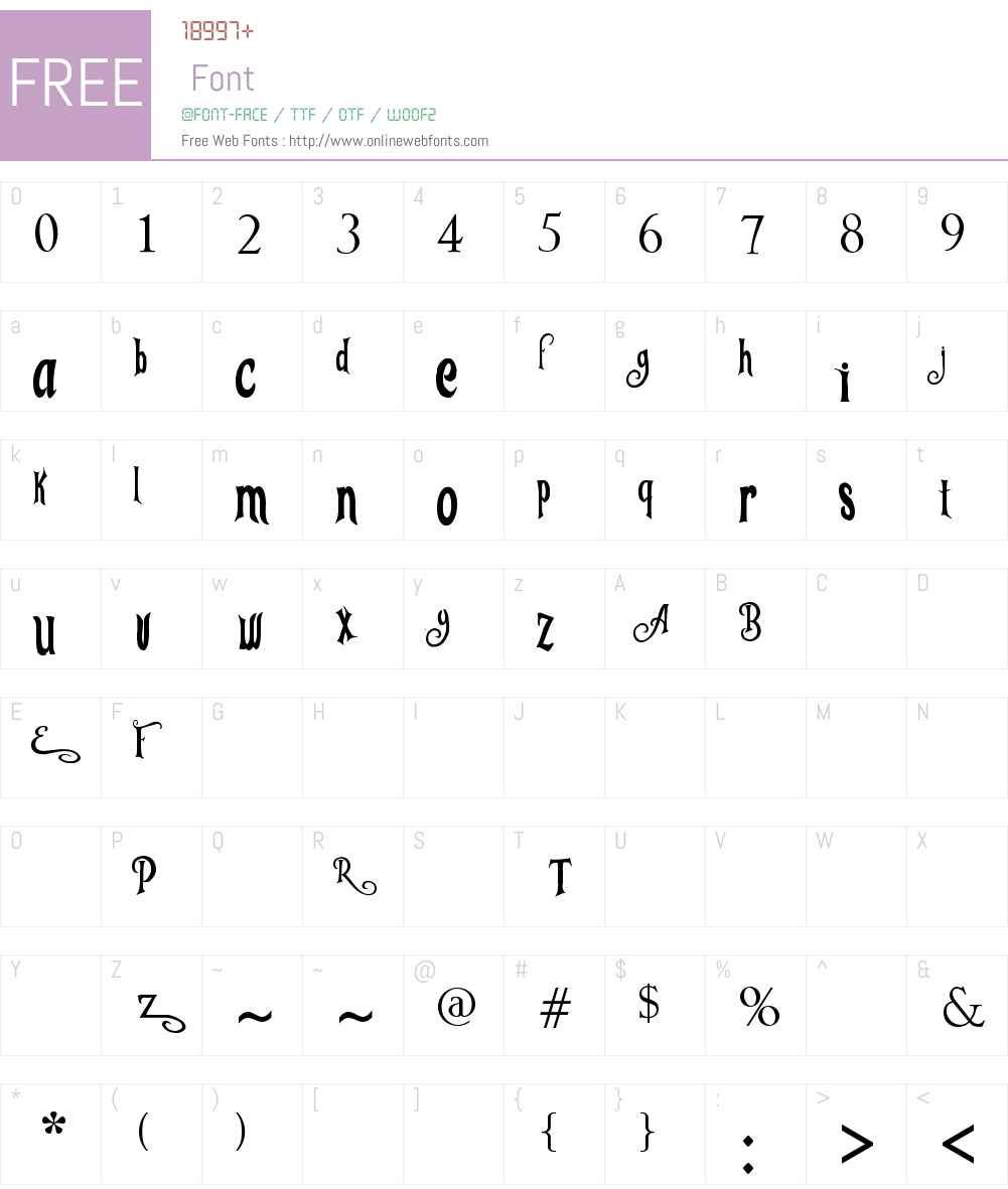 Tangled Font Screenshots