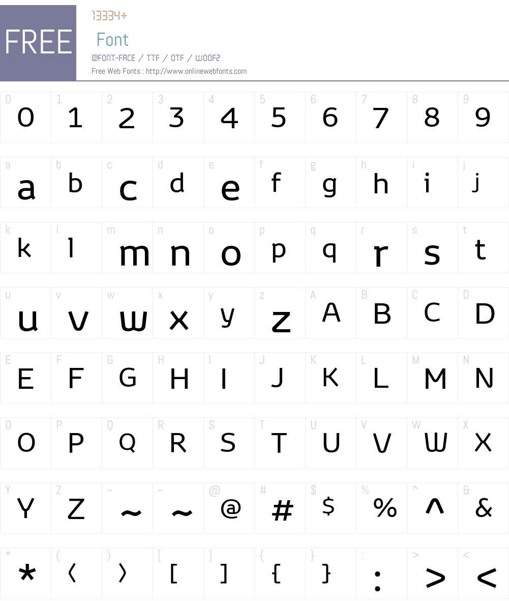 Toyota Display Font Screenshots