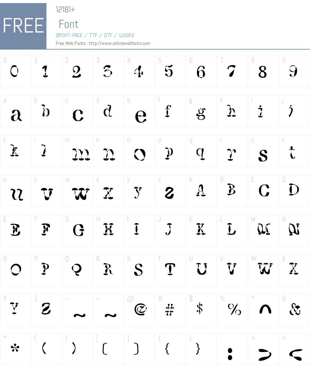 F2FWhaleTree LT Std Font Screenshots