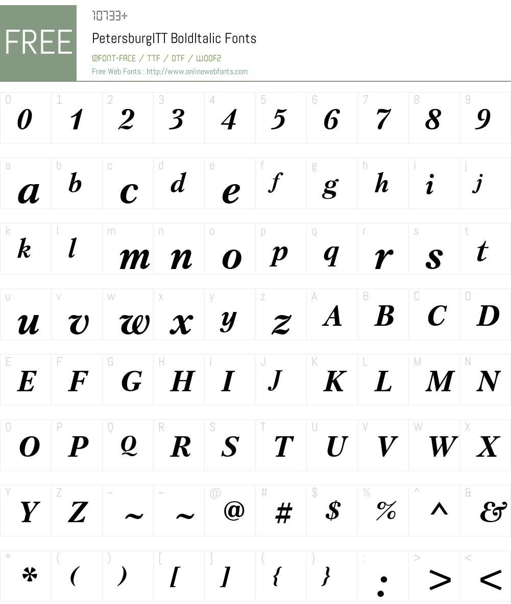 PetersburgITT Font Screenshots