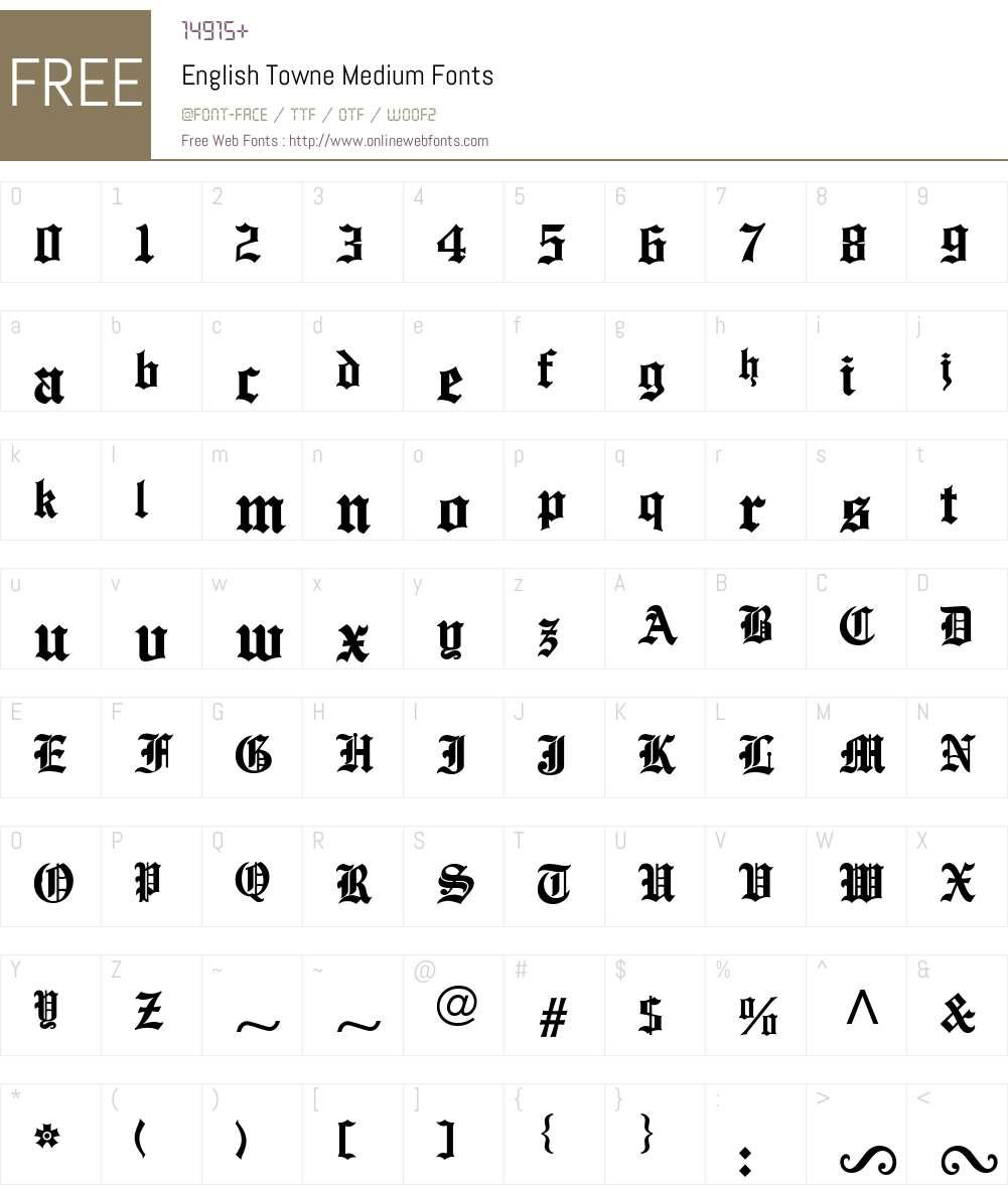 English Towne Font Screenshots