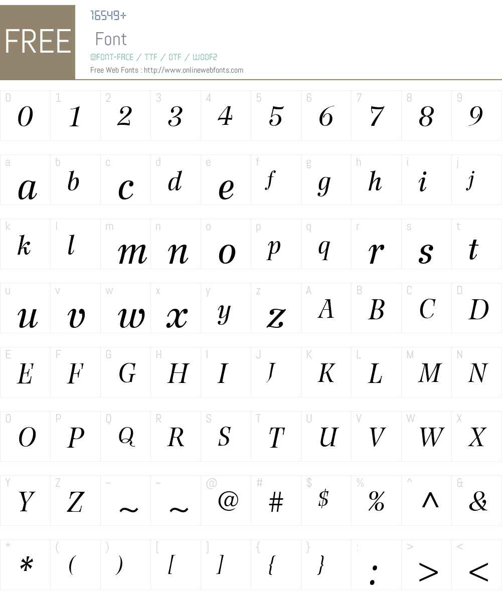 WilkeLTW01-56Italic Font Screenshots