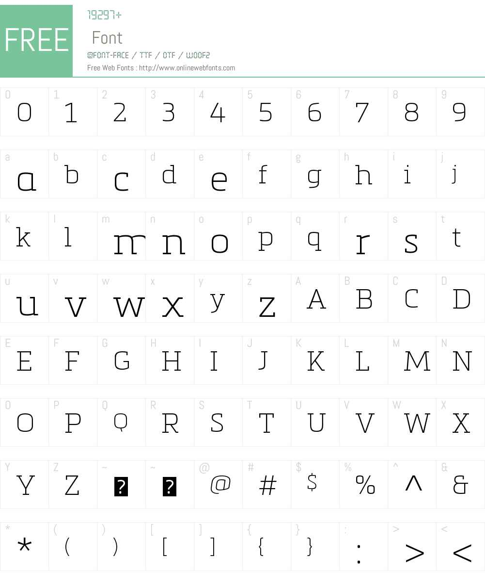 Metronic Slab Pro Air Font Screenshots