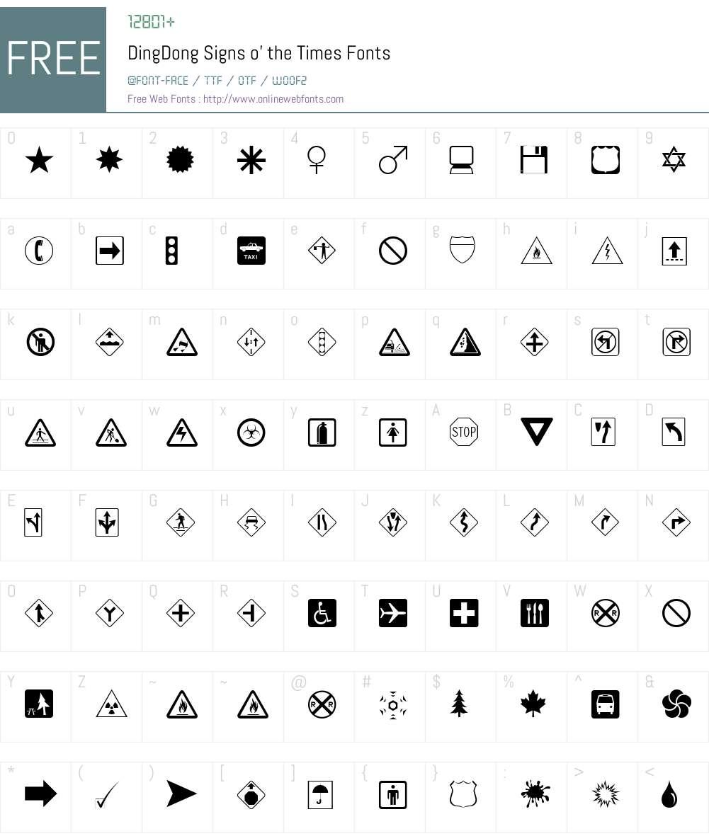 DingDongs Font Screenshots