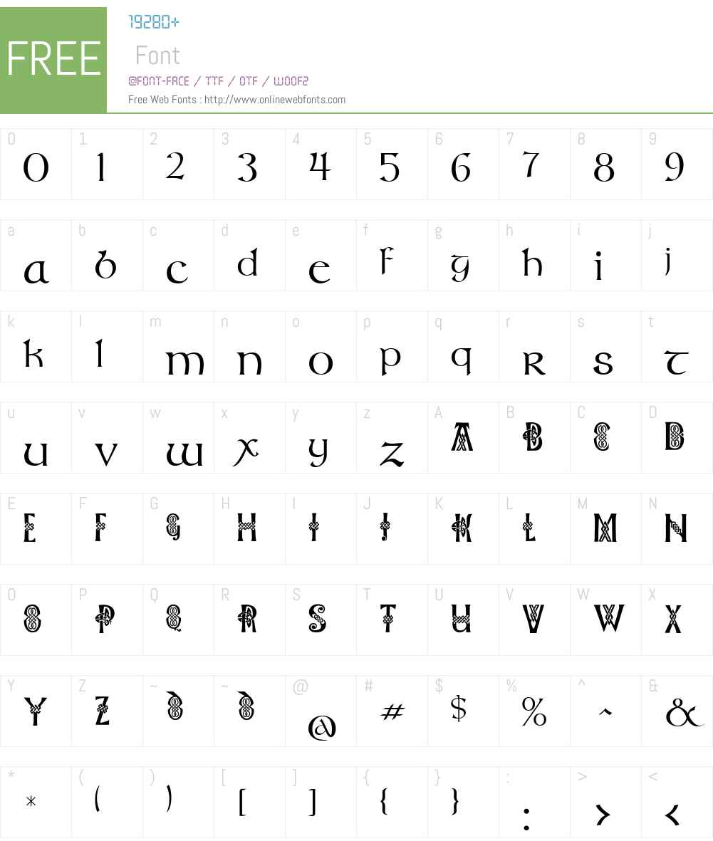 Celtic Knots Font Screenshots