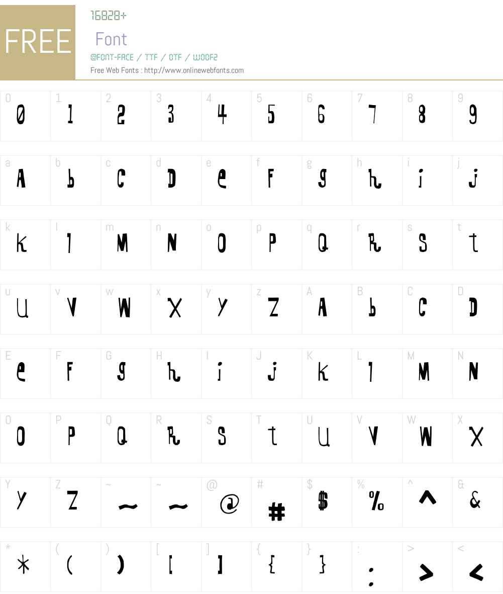 KennelDistrict Font Screenshots