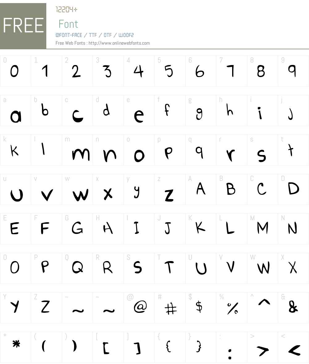 Go Boom! Font Screenshots