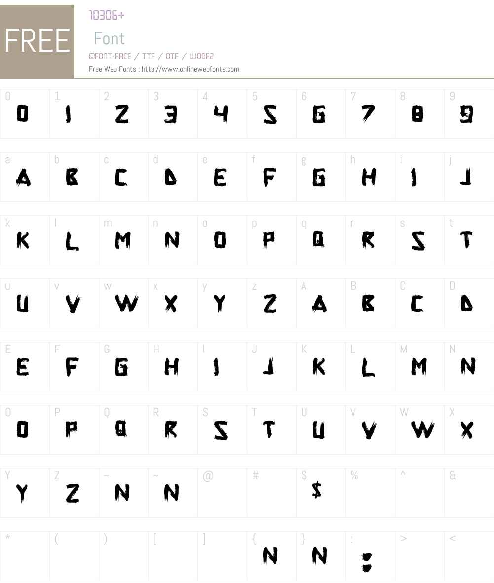 Superpower Synonym Font Screenshots