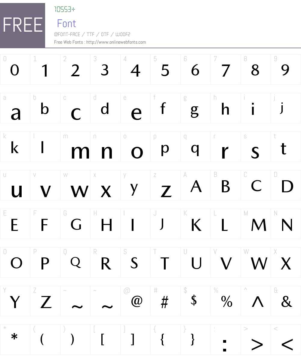 Mazda Type Medium Font Screenshots