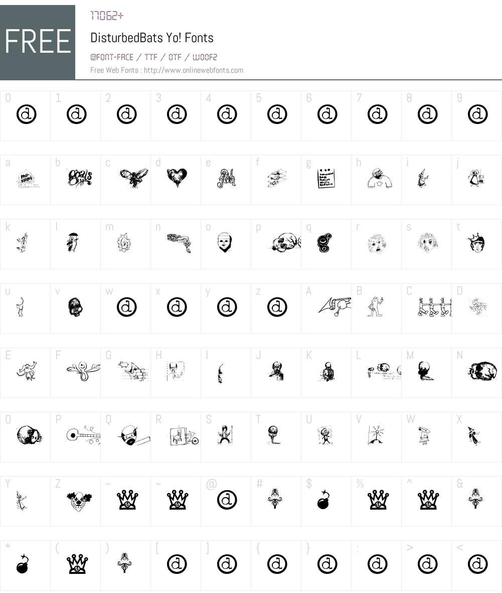 DisturbedBats Font Screenshots