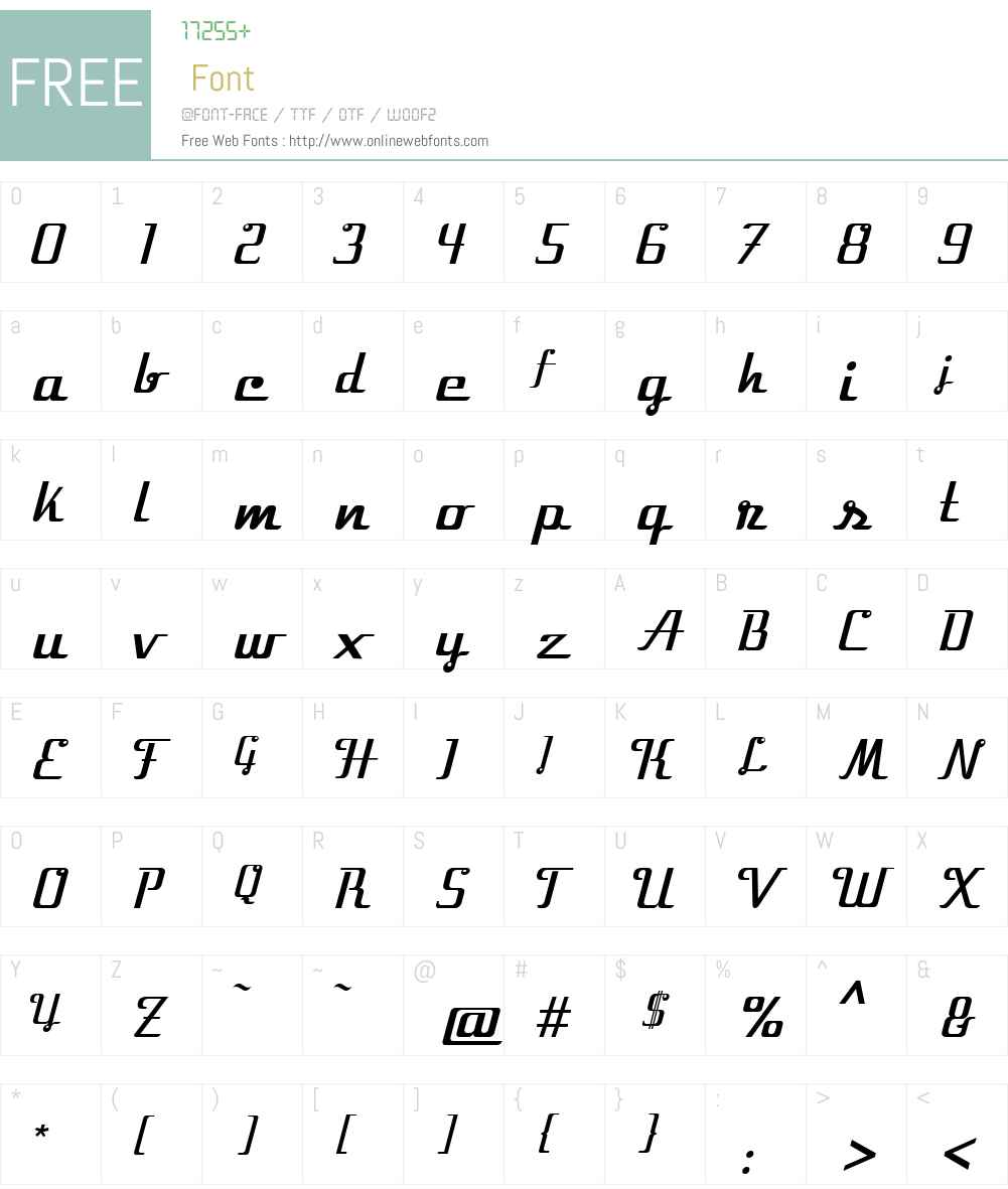 Velocette Font Screenshots