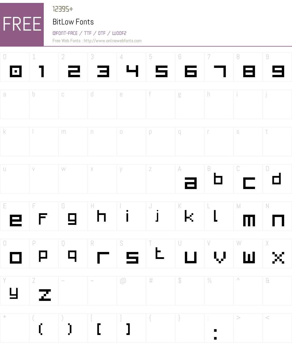 BitLow Font Screenshots